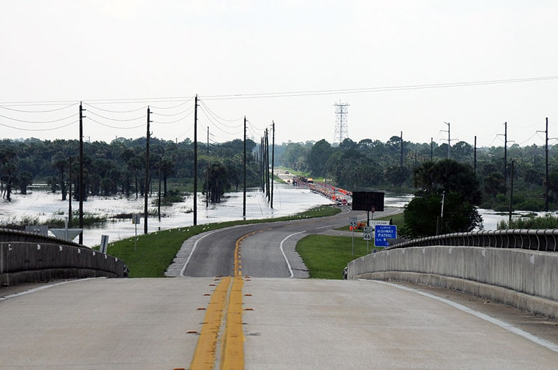 State Road 46 is underwater and shut down in the area of Lake Harney on the St. John's River thanks to Tropical Storm Fay, Aug. 28, 2008, in Geneva, Fla. (Photo by George Armstrong/FEMA)