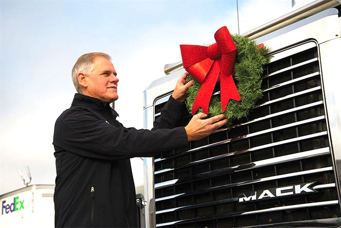 JSD Express owner puts wreath on truck