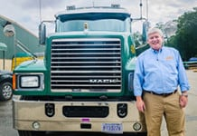 Superior Transportation CEO with Mack truck